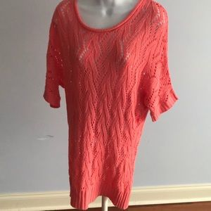 Long coral sweater